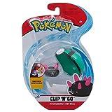 Giochi Preziosi Italy – Pokémon Clip 'N Go con figura Pyukumuku y Net Ball