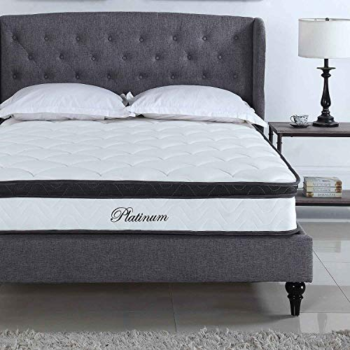 Swiss Ortho Sleep Twin Mattress 10 Inch Innerspring Pillow Top Mattress Hybrid Wave Memory Foam Mattress - Bed in a Box, CertiPUR-US Certified, (Model: MTS03-10-TWIN),White