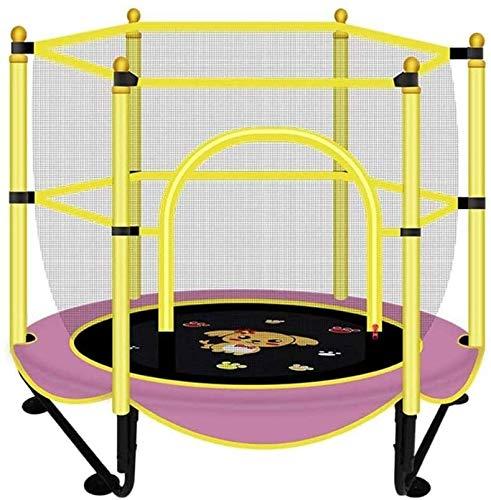 BZLLW Trampolino, Mini Trampolino con reti a circuizione, Palestra e Fitness Trampolino for Il Bambino/Bambino, Interno/Esterno JumpKing Rebounder (Adulti e Bambini età 5+)