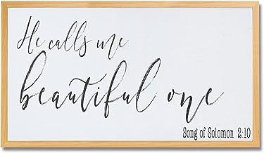 Hij noemt me mooie een teken meisjes kamer Schrift teken lied van Salomo teken hij noemt me mooie een ingelijst hout teken...