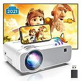 Proiettore Portatile, Videoproiettore Wifi Luminosità 6000, Supporta 1080p Full HD 300'', ABOX Proiettore Wifi Compatibile Android,iPhone,Laptop,PS4,Mac, Ideale per Home Cinema