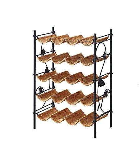 4D Concepts Wicker Wine Rack