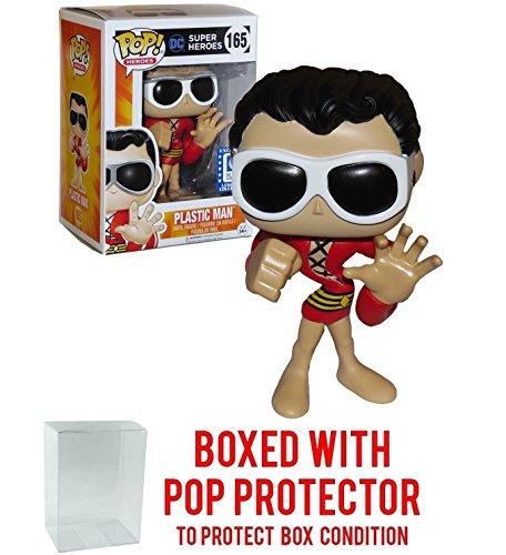 Super Heroes Funko Pop! DC Legion of Collectors - Plastic Man #165 Vinyl Figure Bundled with Free Pop Box Protector Case