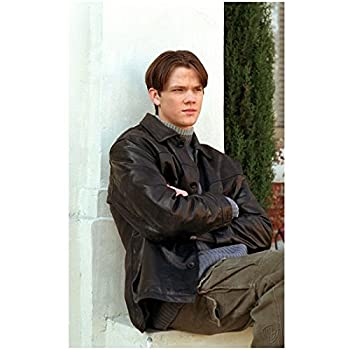 Gilmore Girls 8 inch x 10 inch Photograpg Jared Padalecki/Dean Forester VERY Young! Black Leather Jacket Over Blue Sweater Pose 3 kn