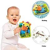 teytoy Baby'Entdeckungsbuch' Früh 3D Lernen Lernspielzeug, Tier Stoff Buch Activity Books Vibrant Seiten für Kleinkinder Ungiftige Reise Toy - 2 Stück