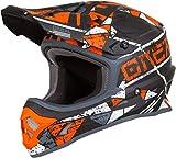 O'Neal 3Series Zen Motocross Helm MX MTB FR DH All Mountain Bike Freeride Downhill Fahrrad, 0623-Z-Adult, Farbe Orange, Größe M