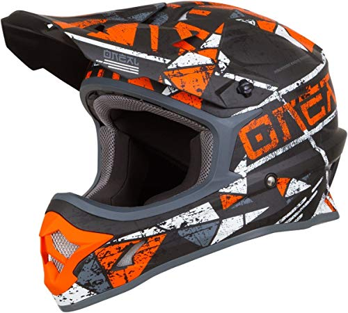 O'Neal 3Series Zen Motocross Helm MX MTB FR DH All Mountain Bike Freeride Downhill Fahrrad, 0623-Z-Adult, Farbe Orange, Größe M