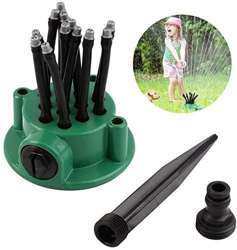 KKSJK Rasensprenger Garten Sprinkleranlage Kit,12 Düse 360°Drehbares Rasen Wasser Regner,Vielseitig Gemüsepflanzen Rasen Bewässerungssystem ist Einfach zu Bediene