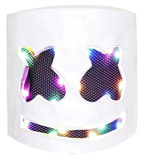 LED Masken DJ Maske Party Bar Musik Cosplay Helm für Kinder Erwachsene Neuheit Kostüm Party, Farbe