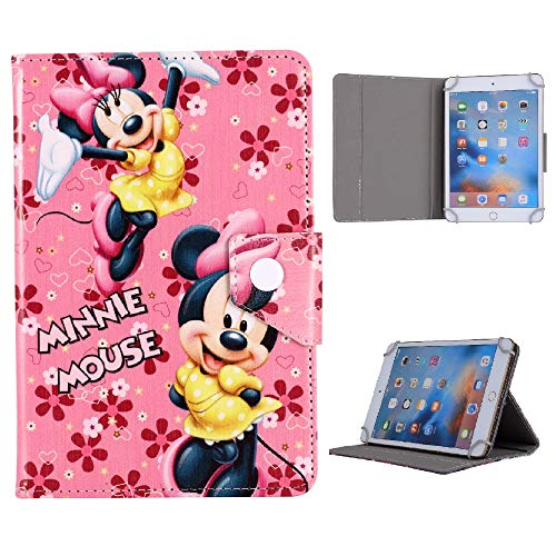 Lenovo Tab E8 4 M8 8 Inch Kids Tablet Cover Disney World Stitch Ariel Mermaid Avengers Case (Lenovo Tab E8, Minnie Mouse)