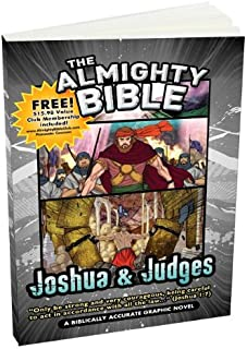 Almighty Bible - Book for Joshua & Judges Biblically Accurate Graphic Bible Stories with verses Word for Word, paperback