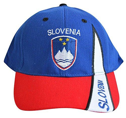 Flaggenfritze Kappe Motiv Slowenien Fahne, Fan - Cap mit slowenischer Fahne