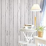 Papel de tablón de madera blanco de vinilo autoadhesivo para paredes, muebles, gabinetes, estantes, estantes, cajones, calcomanía 45CMX10M