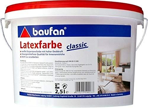2,5 Liter (Pufas) Baufan Latexfarbe classic