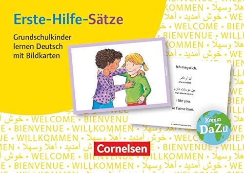 Deutsch lernen mit Fotokarten - Grundschule: Erste-Hilfe-Sätze - 100 Bildkarten