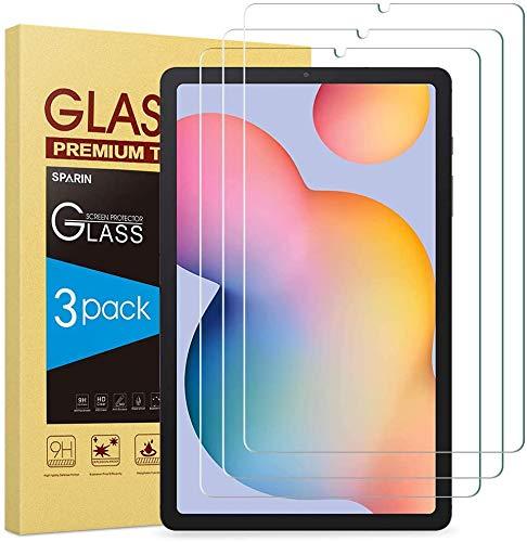 SPARIN 3 Stück Panzerglas Schutzfolie kompatibel mit Samsung Galaxy Tab S6 Lite 10.4 zoll, Glas Bildschirmschutzfolie