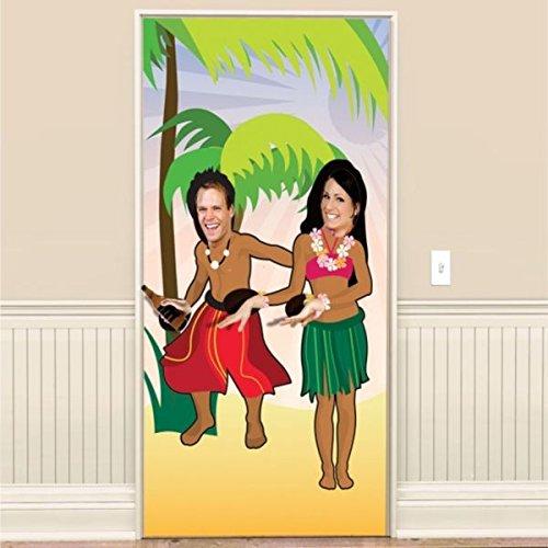 amscan - Póster para Puerta, diseño de Bailarines Hawaianos