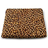 Excellent Support & Comfort Memory Foam Seat Cushion Soft Cool Cushion, Enhanced Office Chair Wheelchair Car Seat Cushion for Back Hip Pain Relief - Animal Leopard Print