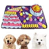 Einesin Hund schnüffelteppich intelligenzspielzeug, 70X50cm Interaktives Spielzeug für Hunde,...