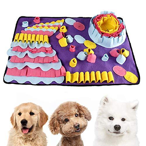 Einesin Hund schnüffelteppich intelligenzspielzeug, 70X50cm Interaktives Spielzeug für Hunde, Riechen Trainieren Schnüffeldecke Futtermatte Trainingsmatte für Haustier Hunde Katzen