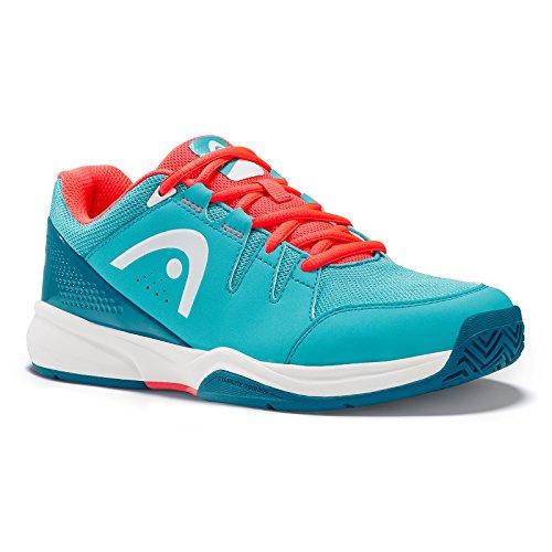 HEAD Brazer Womens, Chaussures de Tennis Femme, Blanc (Blue/Coral), 37 EU