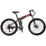 Eurobike G7 Mountain Bike 21 Speed Steel Frame 27.5 Inches Spoke Wheels Dual