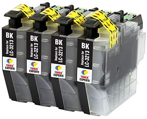 LC3213 LC3213BK TONER EXPERTE® 4 Schwarz Druckerpatronen kompatibel für Brother DCP-J572DW DCP-J772DW DCP-J774DW MFC-J491DW MFC-J497DW MFC-J890DW MFC-J895DW | hohe Kapazität