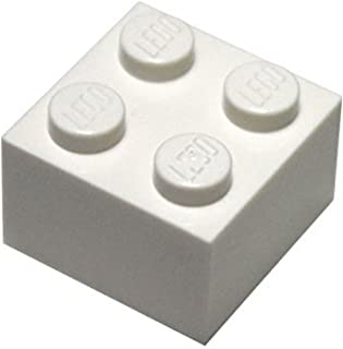 LEGO Parts and Pieces: 2x2 White Brick x50