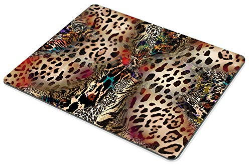 Smooffly Leopard Print Mouse Pads for Women,Abstract African Animal Leopard Wildlife Retro Personality Desings Gaming Mouse Pad 9.5 X 7.9 Inch (240mmX200mmX3mm) Photo #4