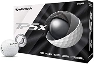 توپ TaylorMade TP5x توپ گلف، سفید (یک دوجین)