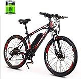 Bicicletas eléctricas para adultos Adulto bicicleta de montaña eléctrica, de 26 pulgadas de 27 velocidad de bici, batería de litio 10AH 36V250W Motor, Resistencia 50 Kilómetros, Hard Tail Bicicleta el