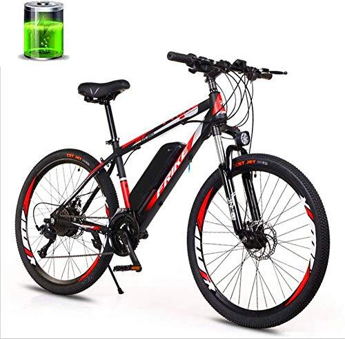 RDJM Bici electrica Adulto Bicicleta de montaña eléctrica, de 26 Pulgadas de 27 Velocidad de Bici, batería de Litio 10AH 36V250W Motor, Resistencia 50 Kilómetros, Hard Tail Bicicleta eléctrica
