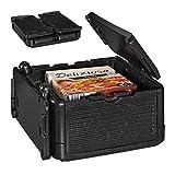 Relaxdays Thermobox für Essen, klappbare Isolierbox, mit Deckel, EPP, 24 L, für Pizza Lieferservice, Einkäufe, schwarz, 1 Stück