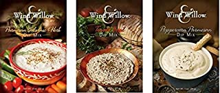 Wind & Willow Dip Mix Variety Pack - Parmesan Balsamic & Herb, Peppercorn Parmesan, Tomato Basil