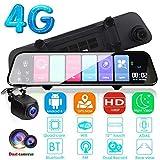 GJNVBDZSF Android 12,1 Pollici Adas Dash Cam, Specchio per DVR Dvr WiFi 4G per videocamera GPS Navi Fhd per Auto