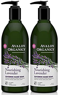 Avalon Organics - Glycerin Hand Soap Lavender - 12 Ounces (Pack of 2)