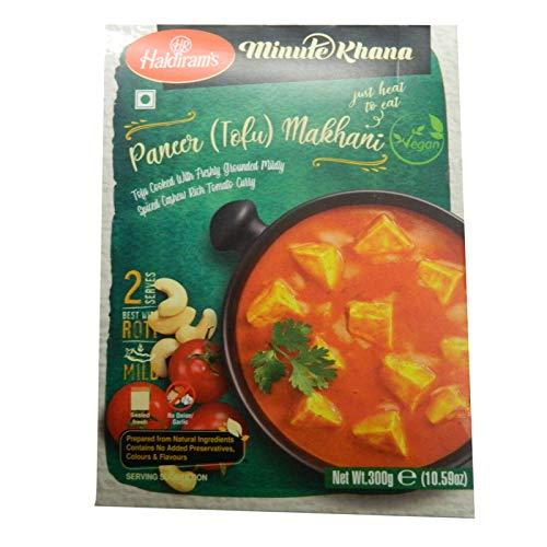 3x Haldiram´s Minute Khana Paneer Tofu Makhani Fertiggericht 300g
