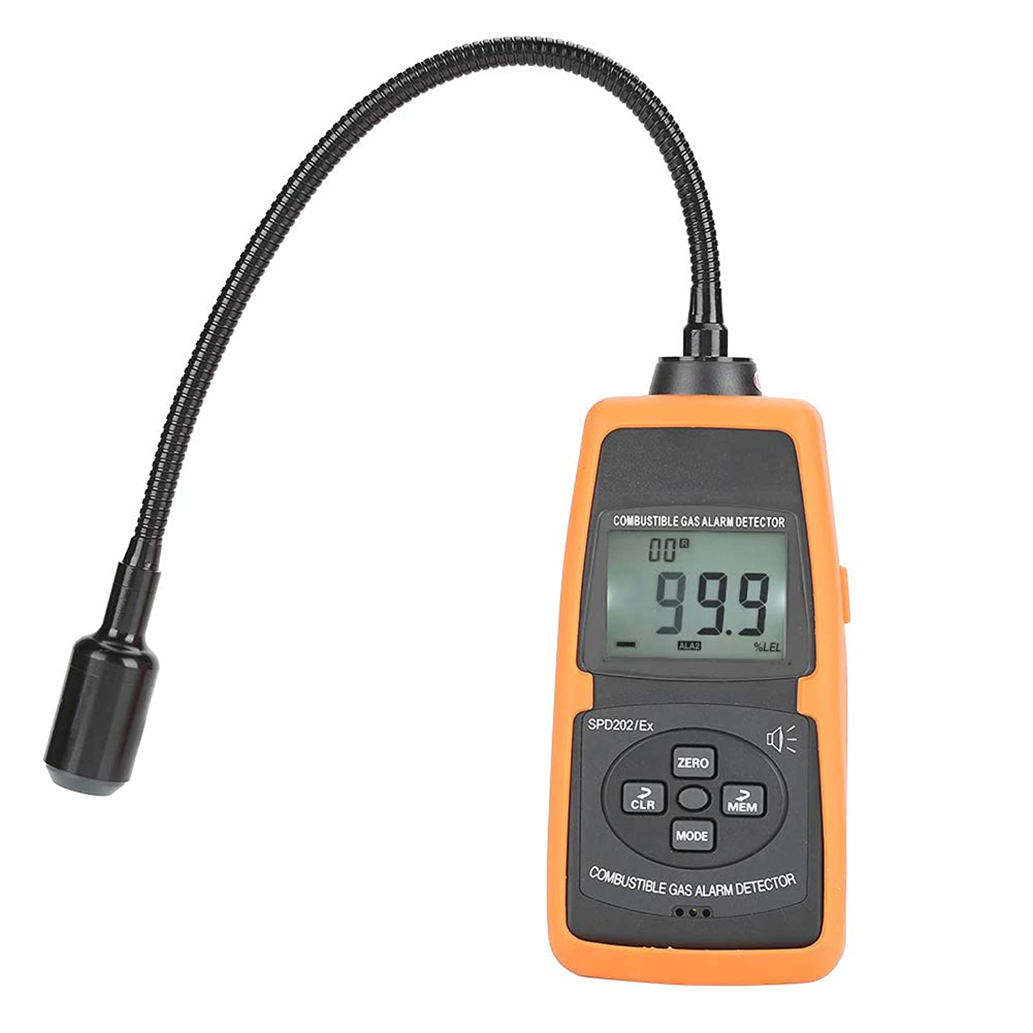 集まる漁師国籍天然ガス検知器、ポータブルデジタル可燃性ガス警報テスターメーターツール