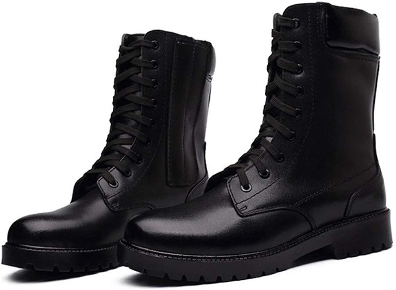 Men's Boots British Style Combat Boots Winter High-top Tooling Martin Warm Autumn and Winter shoes