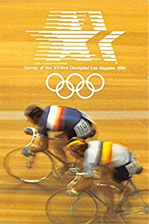 Games of the XXIIIrd Olympiad Los Angeles 1984 Cycling Old Vintage Track & Field Postcard Post Card