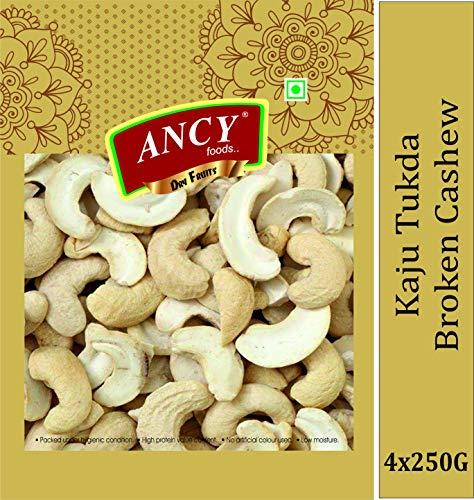 Ancy Foods 100% Natural Cashews Kernels Piece Split Nut, (Kaju 2 Tukda) Dry Fruit,1kg