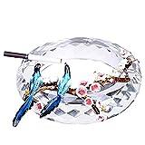 CHOUCHOU Windaschenbecher, Aschenbecher kreative Persönlichkeit Glas Haushalt Kristallaschenbecher...