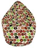 Joyfill Sitzsack mit Bezug, Stuhl für Kinder und Erwachsene, Weicher Stoff, 240L groß - 548 Apple red