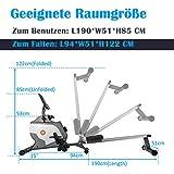Jumper Magnetisches Rudergerät Klapp-Rudergerät mit Magnetischem Spannsystem, LED-Monitor - 7