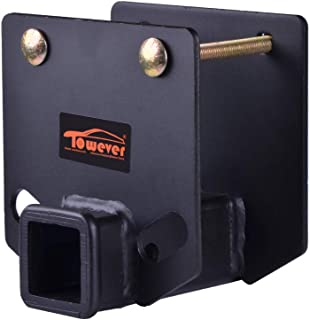 Towever 83803 RV Bumper Hitch 2 inches Receiver Adapter for 4 x 4 inches Square Bumper Beam Level Trailer Towing Purpose