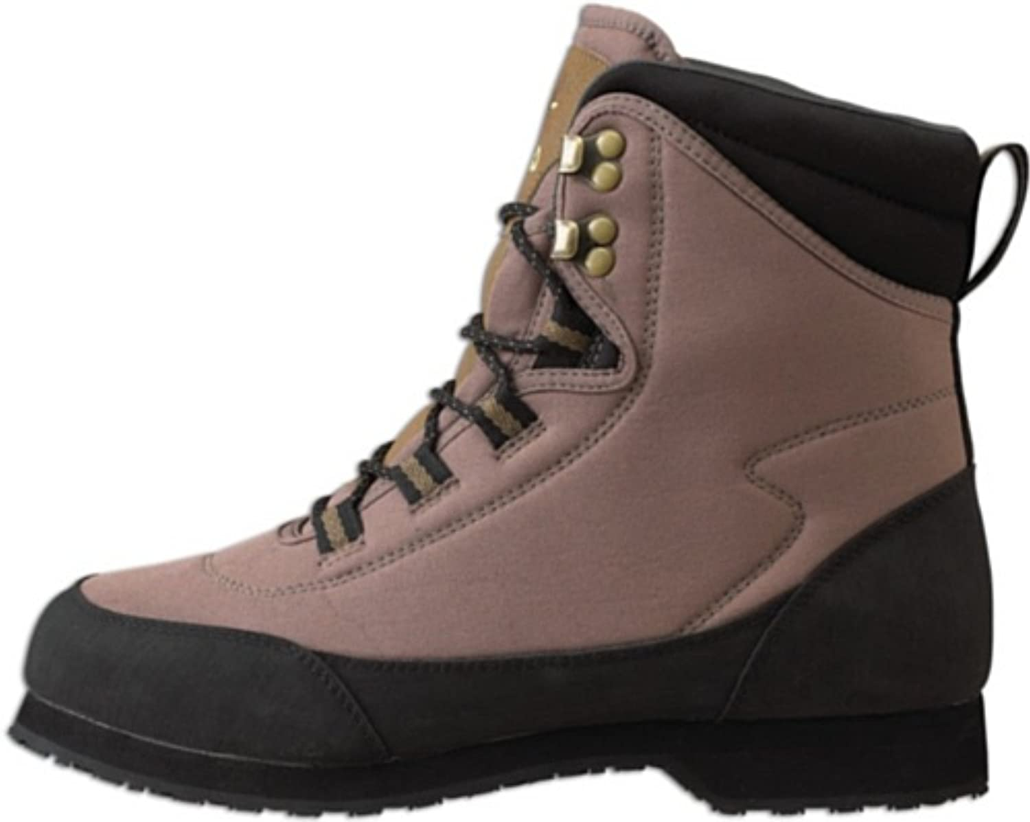 Caddis Men's Ultralite Taupe and Black Ecosmart Grip Sole with studs Wading shoes