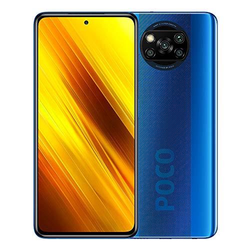 Xiaomi Poco X3 NFC M2007J20CG - Smartphone 6 GB + 128 GB, Dual Sim, Blu (Cobalt Blue)