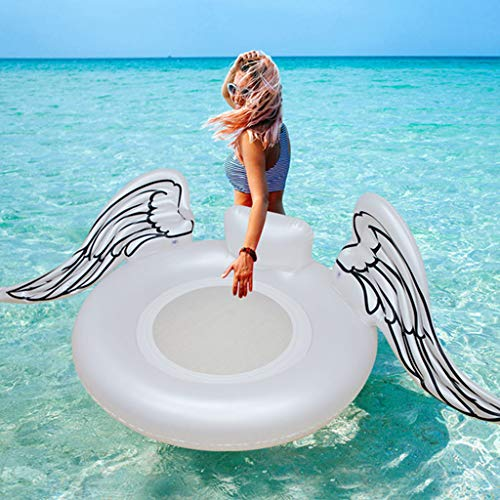 PVC Inflable Flotante De La Mariposa Fila-Adult Swim Anillo Inflable De La Piscina del Flotador del Asiento para Niños con Flotador Agua Verano Juguetes- 185 * 105 * 40cm White-185 * 105 * 40CM