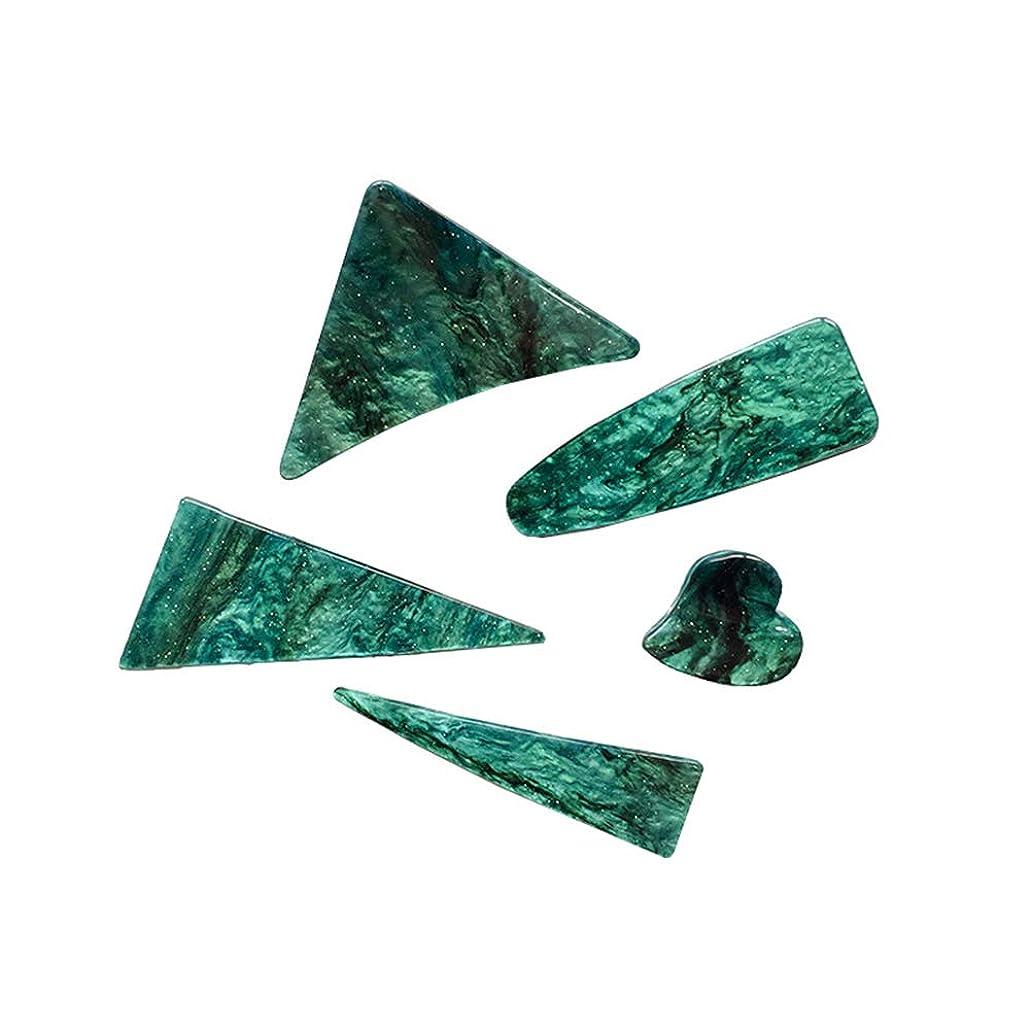 LURROSE 5ピースジョークリップヘアピンヘアクリップ三角形ヘアピンクランプバレットスタイリングヘアアクセサリー