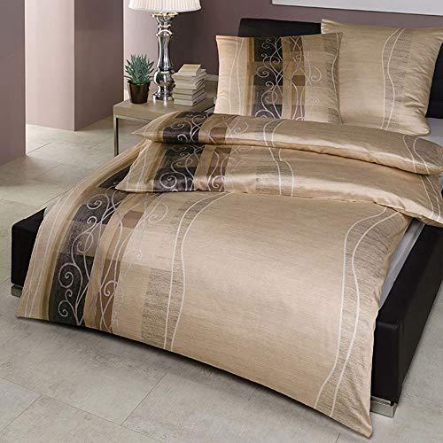 EStella Baako Bed Linen Sand, Cotton, sand, 135 x 200 + 80 x 80